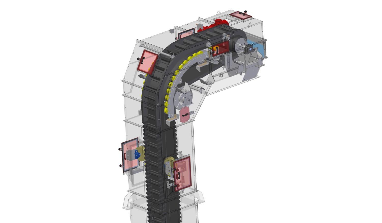 подъёмный z-образный ленточный транспортёр (SPD)