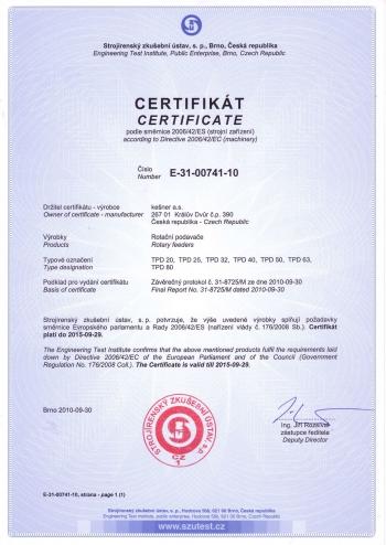 certifikat